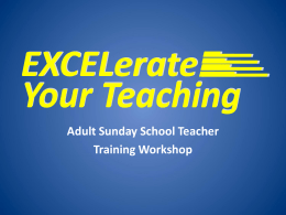 EXCELerate Your Teaching