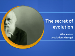 What drives evolution?