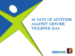 16 Days of Activism Powerpoint presentation