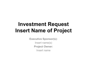 investment request template