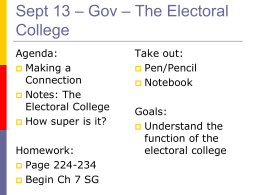 Sept 13 – Gov – Going to College