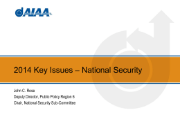 National Security Key Issues Deck