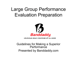 Large Group Performance Evaluation Preparation