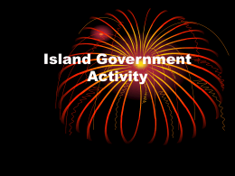 Island Government Activity