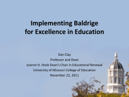 Barriers to Implementation in Higher Education