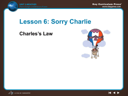 Charles`s law