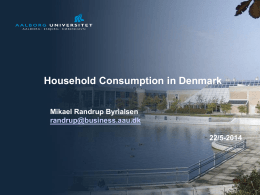 Household Consumption in Denmark