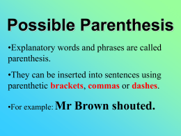 Possible-Parenthesis