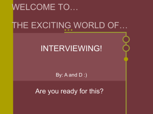Interview PowerPoint