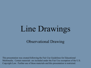 Create a contour line drawing using variety in the measure of