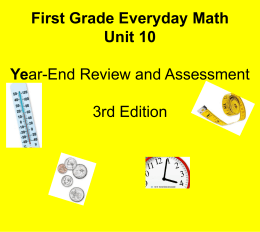 Everyday Math- gr. 1 unit 10