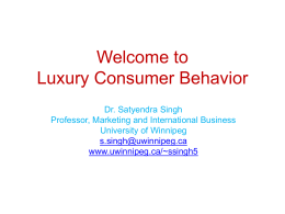 Luxury Consumer Behavior