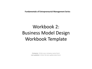 Workbook 2: Business Model Process Workbook Template
