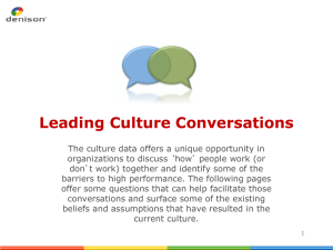 Culture Conversations - Student Life Staff Site
