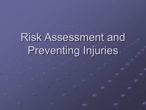 Risk Assessment and Preventing Injuries