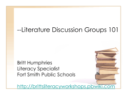 Literature Discussion Groups 101