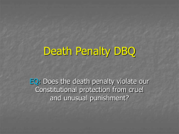 Death Penalty DBQ