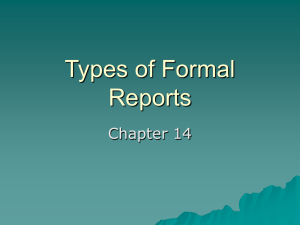 Types of Formal Reports