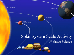 Powerpoint to Solar System Scale Activity by Doreen Jarvis