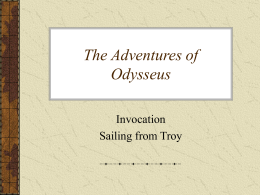 Invocation and Sailing from Troy