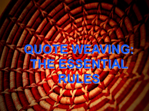 Quote-Weaving Powerpoint