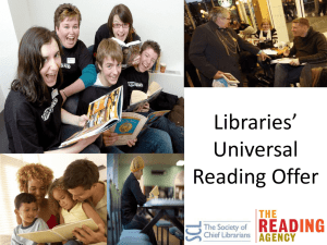 Universal Reading Offer