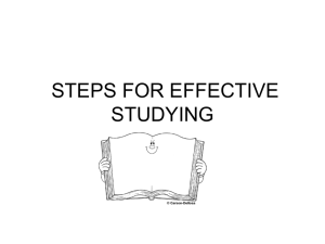 12 STEPS FOR EFFECTIVE STUDYING