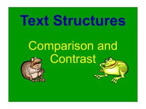 Comparison and Contrast Powerpoint Lesson