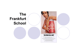 The Frankfurt School