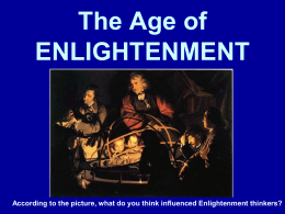 ENLIGHTENMENT & SCIENTIFIC REVOLUTION