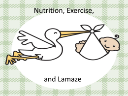 Nutrition, Exercise, and Lamaze