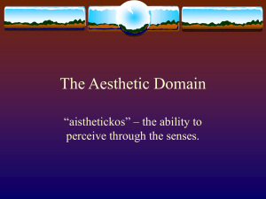 The Aesthetic Domain