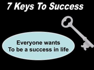Seven Keys to Success - Radford Church of Christ