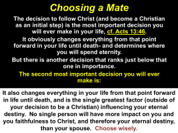 Choosing a Mate - Southside Church of Christ