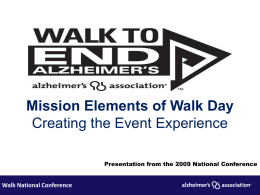 Walk National Conference