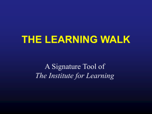 THE LEARNING WALK