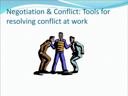 CONFLICT RESOLUTION PROJECT PAPER RUBRIC (Week 5)