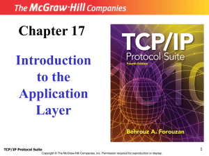 Introduction to Application Layer