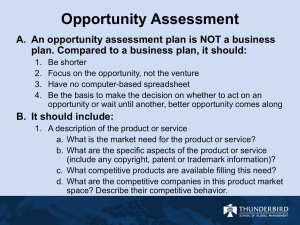 What is an opportunity assessment?