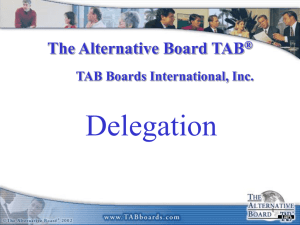 Delegation - The Alternative Board