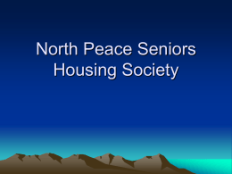 North Peace Seniors Housing Society