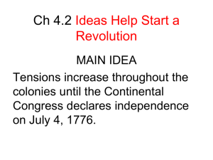 Ch 4.2 Ideas Help Start a Revolution