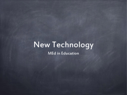 New Technology PPT Presentation - my Portfolio project