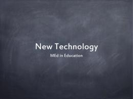 New Technology PPT Presentation - my Portfolio project