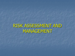 Risk Assessment & Management