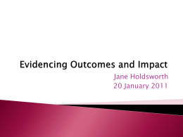 4. Evidencing Outcomes and Impact