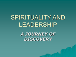 spirituality and leadership