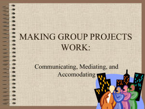 Making Group Projects Work (presentation for faculty) ()
