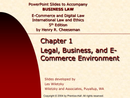 Chapter 001 - Legal, Business, & E-Commerce