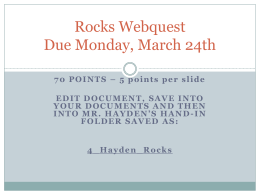 Rocks Webquest 2